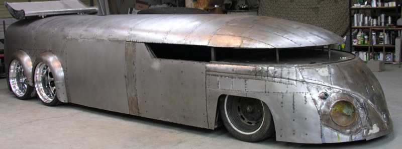 Just A Car Guy When Streamliner Is The Consuming Passion And All The Guy Had Was A Vw Bus