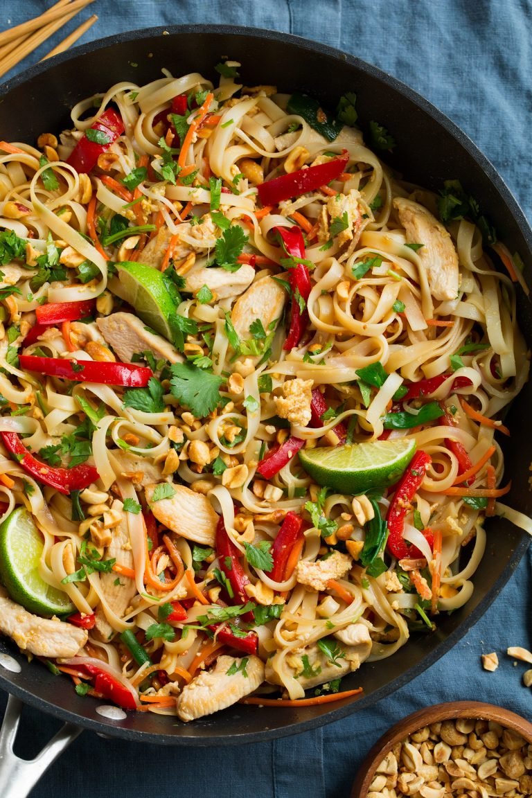 This is such a flavorful, hearty, approachable Pad Thai recipe that anyone can make! It's made with ingredients you can find at the regular grocery store and it's sure to leave you craving more!