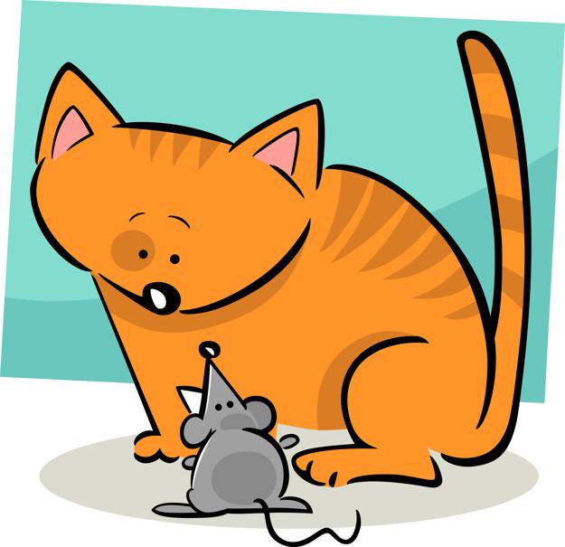 El gato y el ratón son amigos