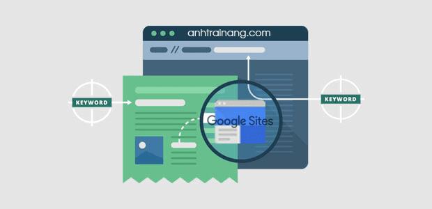 Thủ thuật SEO từ khóa blogspot với Google Sites