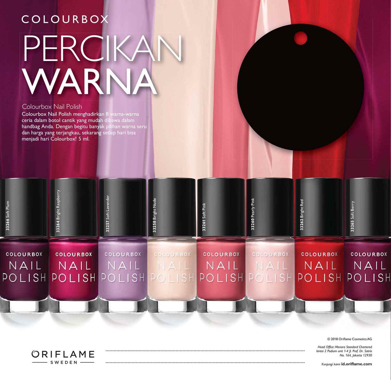 Review Colourbox Nail Polish By Oriflame Zoey Atea