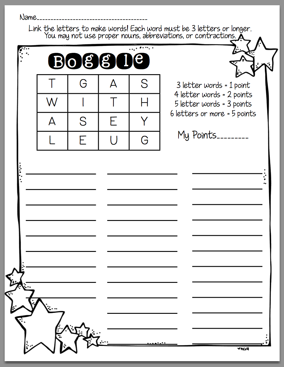 How To Use Boggle In Word Work Sunny Days In Second Grade