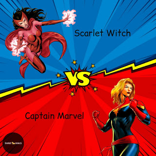 a picture of Scarlet Witch vs Captain Marvel by Igor11 Comics