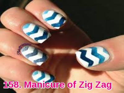 Manicure of Zig Zag