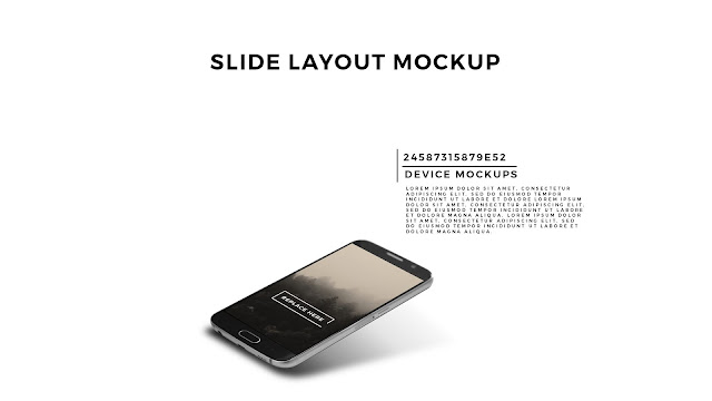 Perspective GALAXY S6 Screen Mockup PowerPoint Template