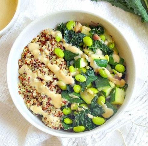 green goddess glow bowl #vegetarian #lunch
