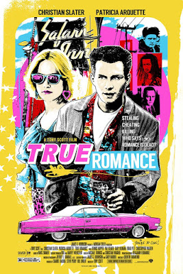 True Romance Movie Poster Screen Print by James Rheem Davis x Silver Bow Gallery