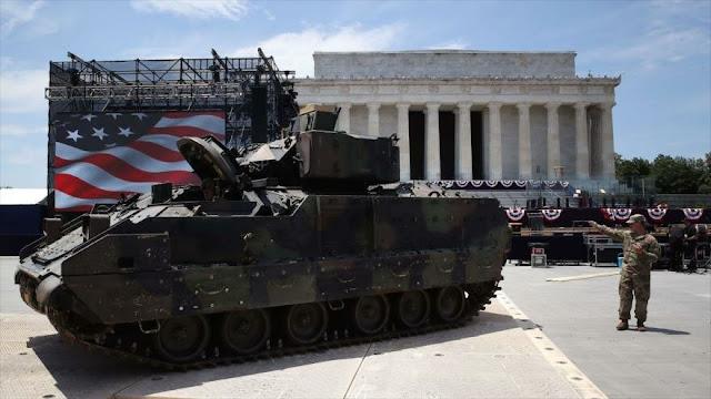 Trump desvía impuestos por pagar su desfile militar de 4 de julio
