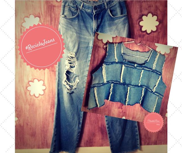 Transforme o seu jeans velho em cropped estiloso e despojado!