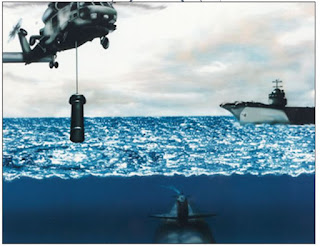 Гидролокатор AQS-18A, опускаемый в воду