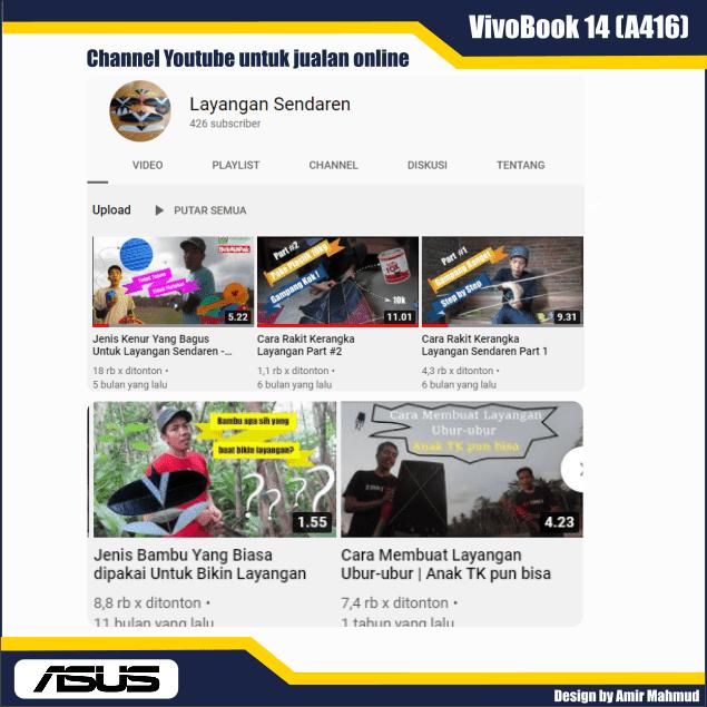 Channel youtube untuk jualan online