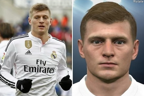 PES 2016 Toni Kroos (Real Madrid) Face by ardarsh95
