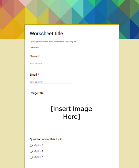 5 Great Google Forms Templates for Teachers | Educational Technology ...