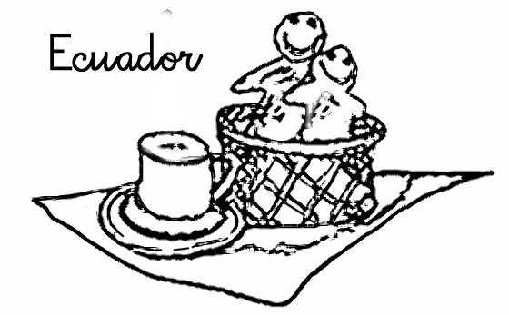 Colorear dibujos de colada morada,  Ecuador