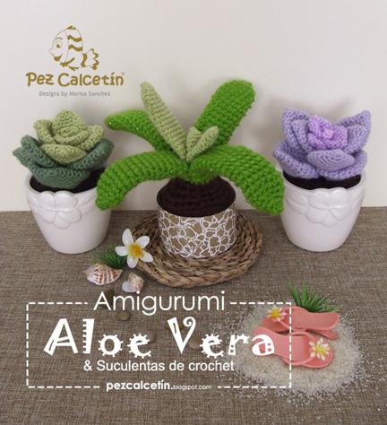 """""""amigurumi: aloe vera"""" """"suculentas crochet"""" """"pez calcetin""""  """"lana-terapia"""" """"bienestar"""""""
