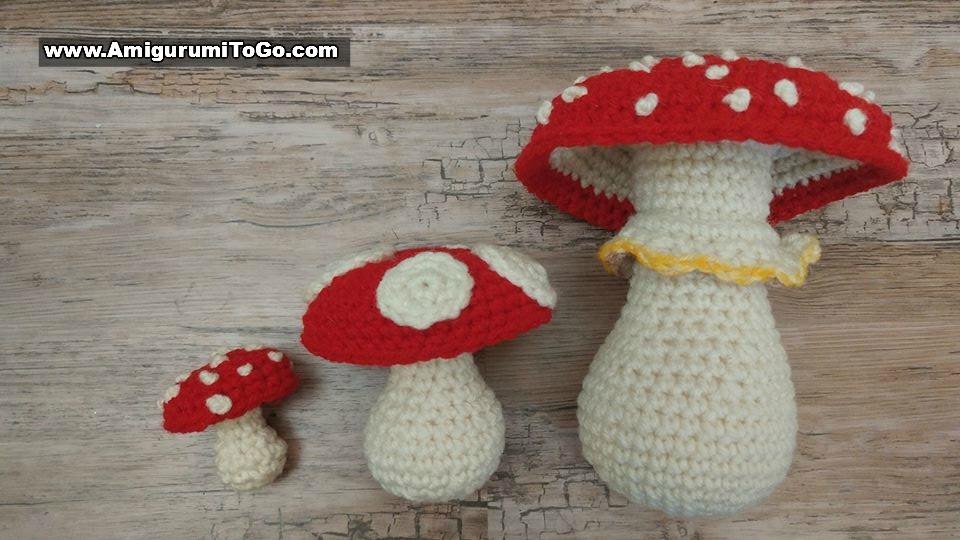 Crochet Mushroom Applique, Free Crochet Pattern – GoldenLucyCrafts   540x960