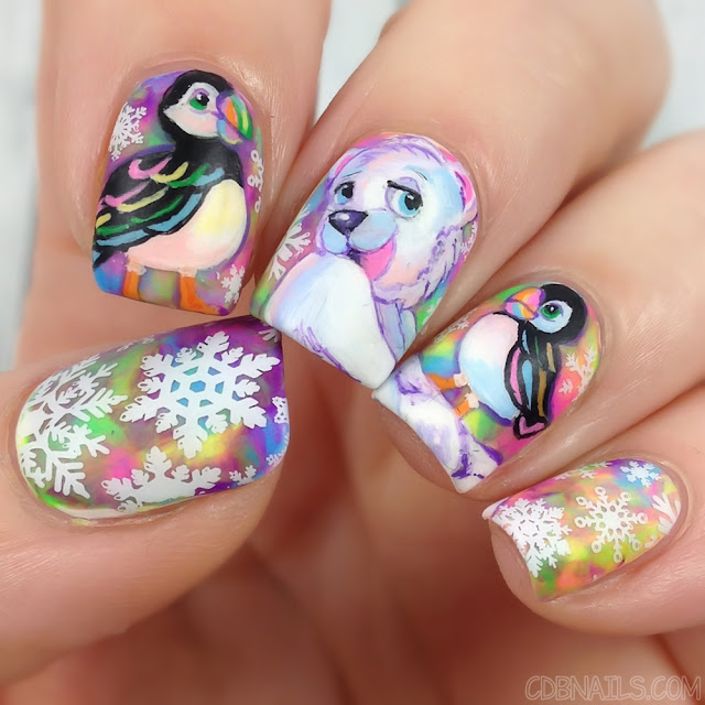 CDBnails-Lisa Frank Nails