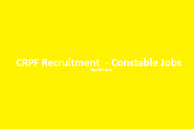 CRPF Recruitment 2016