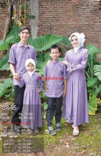 Model Baju Muslim Pasangan Keluarga Terbaru