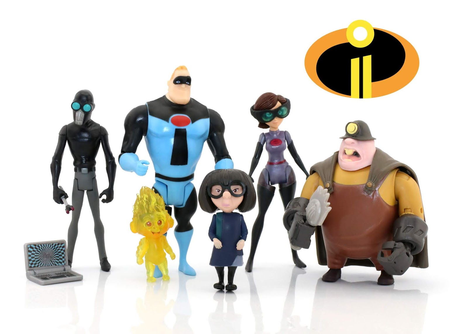 "Incredibles 2 Jakks Pacific 4"" Action Figure Collection WAVE 2 Review"