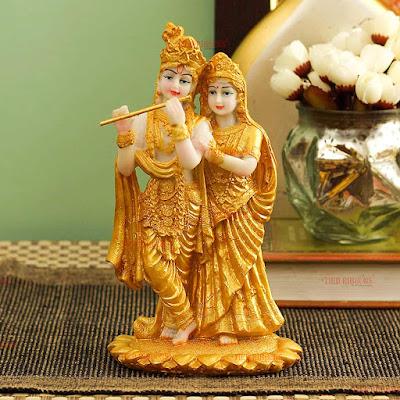 Radha Krishna Idol Statue Showpiece