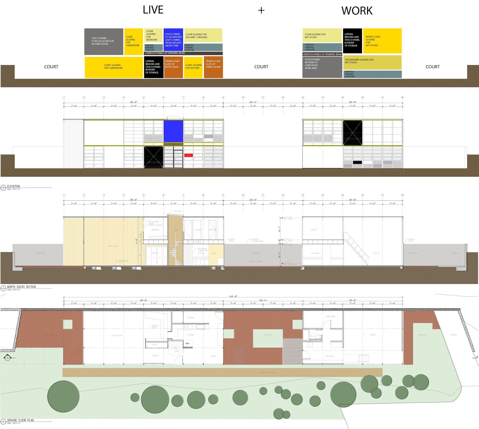 Architext What s in an Elevation Eames House