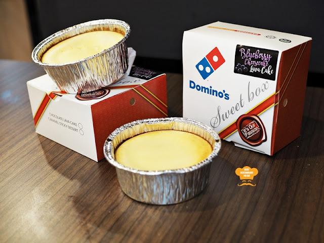 Dominoes Blueberry Cheesecake Lava Cake Recipe