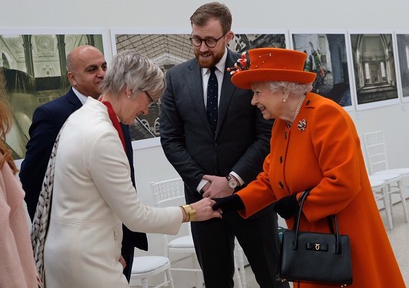 The Queen officially opened the Burlington Gardens