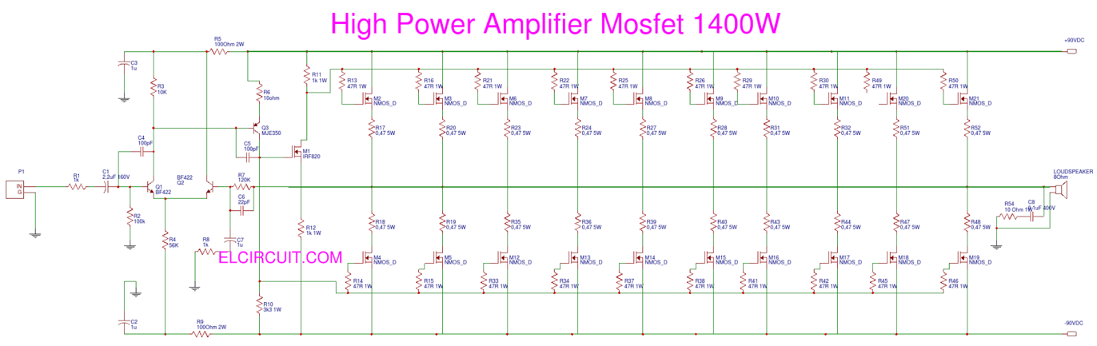 High Power Mosfet Amplifier Free Download Speaker Circuit Amplifiercircuit Diagram Seekiccom Schematic 5200w Design Wire At