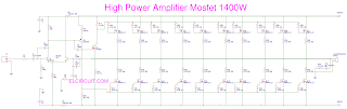 1400 Watt High Mosfet Power Amplifier