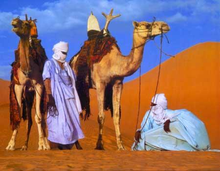 Nomadenvolk Der Sahara