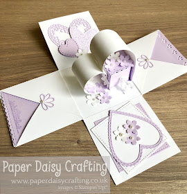 Meant to Be Exploding Box wedding card Stampin Up