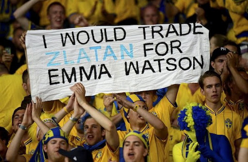 Swedish fans prefer to trade Zlatan for Emma Watson