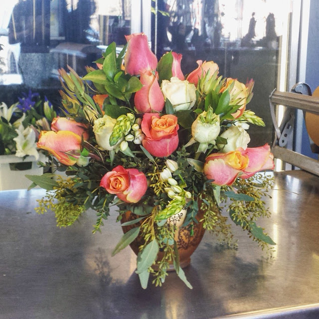 Floral arrangement by The Flower Shoppe in Blaine MN