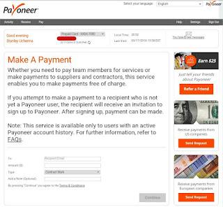 payoneer make a payment 2