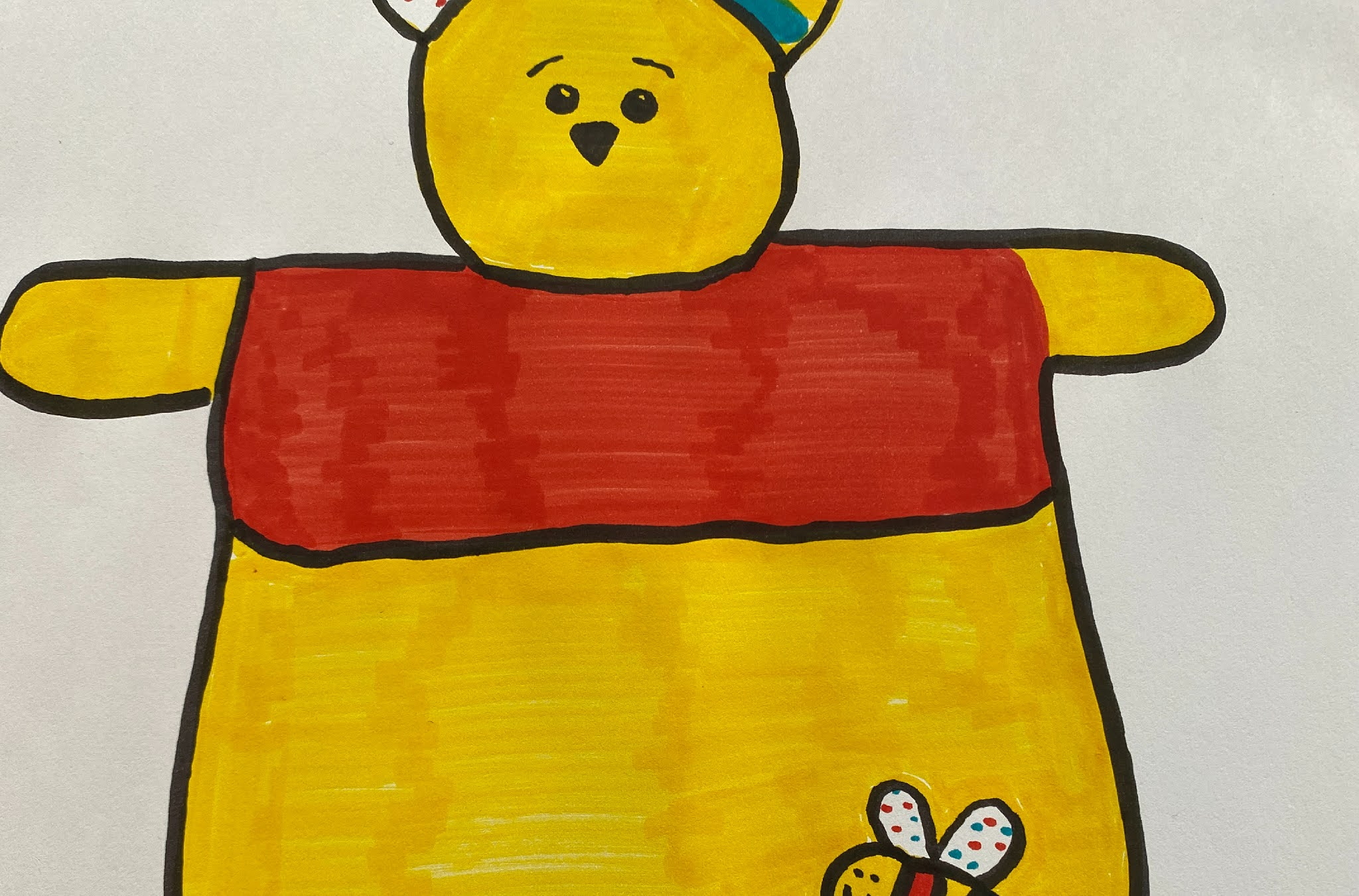 drawing of winnie the pooh taggy
