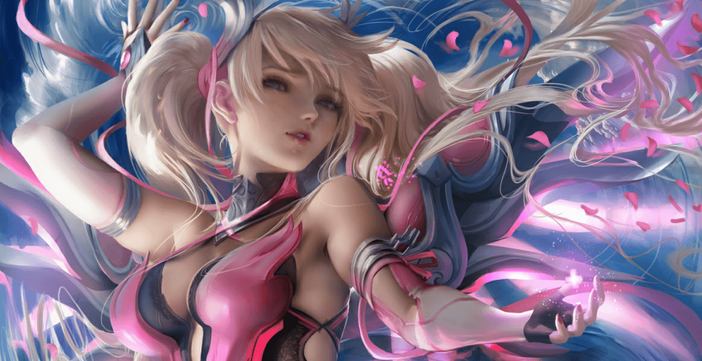 Pink Mercy - Overwatch x BCRF - Art by Sakimichan [Wallpaper Engine Free]