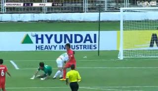 نتيجة  مباراة العراق وكوريا الجنوبية  كأس أسيا تحت 16 سنة