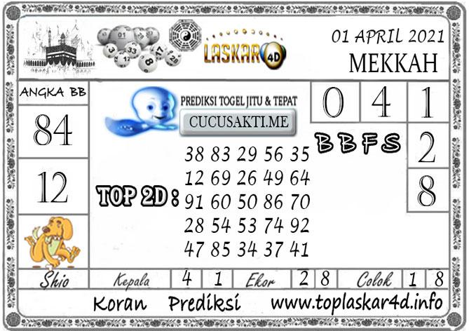 Prediksi Togel MEKKAH LASKAR4D 01 APRIL 2021