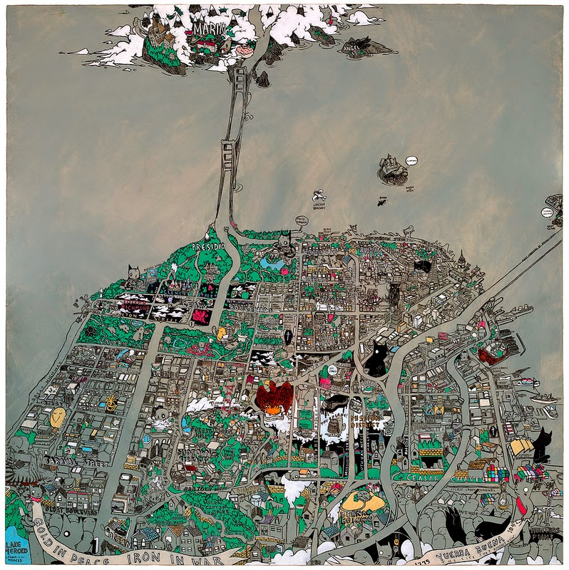 """Secret Histories Map of San Francisco"" Print by Deth P Sun"