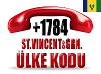 +1 784 Saint Vincent ve Grenadinler ülke telefon kodu