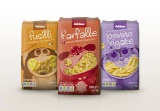 Diseño creativo e innovadores empaque de comida.