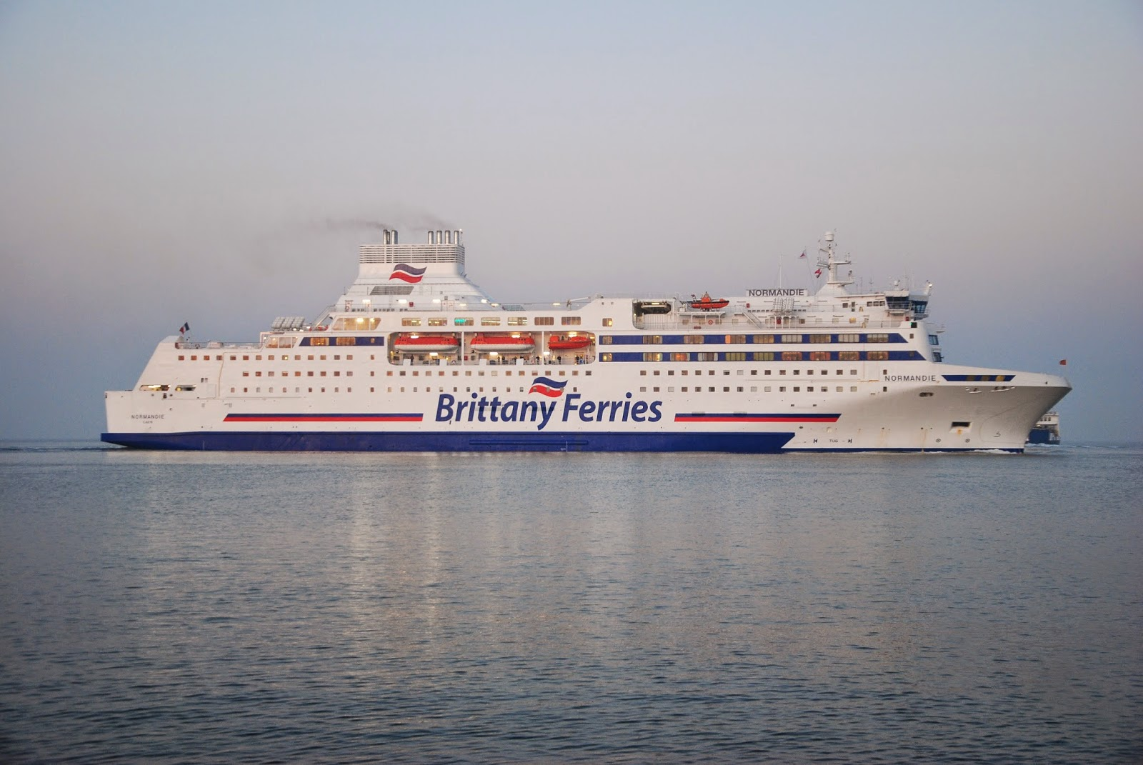 brittany ferries normandie arriving portsmouth after her overnight crossing from ouistreham. Black Bedroom Furniture Sets. Home Design Ideas