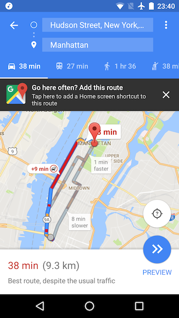 Add Home Screen Shortcuts to Google Maps Directions