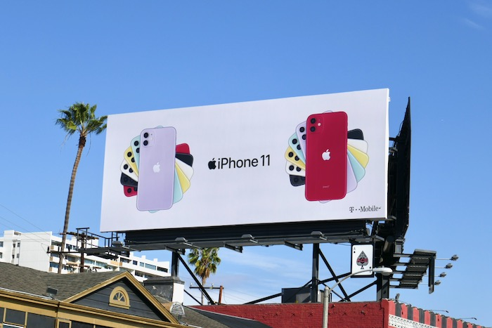 Apple iPhone 11 billboard Sunset Strip