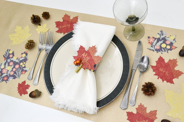 Foil Quill Freestyle Pen Thanksgiving tablescape by Aly Dosdall
