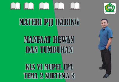 Materi IPA Kelas VI Tema 2 Subtema 3 - Manfaat Tumbuhan dan Hewan