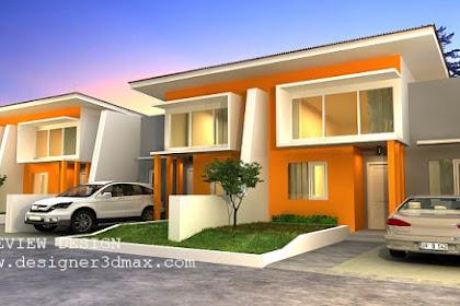 Jasa design perumahan modern berjajar terbaru murah berpengalaman