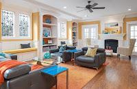 Exquisite mid-century living room design