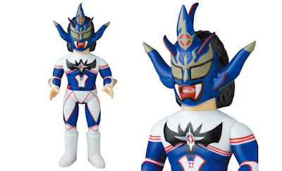 Jushin Thunder Liger Blue Edition Sofubi Fighting Series Vinyl Figure by Medicom Toy